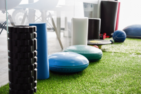 Equipment for Injury rehabilation Swansea in interior of gym